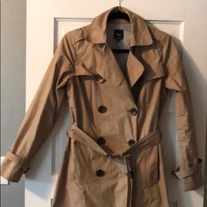 Gap Double Breasted Khaki Trench Coat